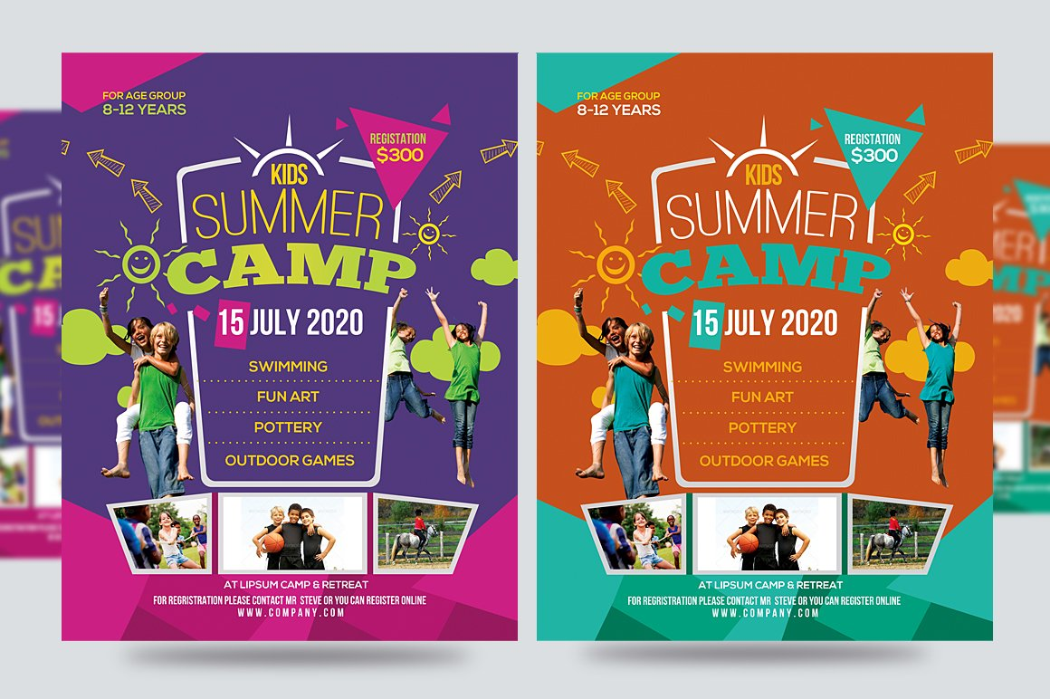 kids activities flyer photos graphics fonts themes templates kids summer camp flyer v1