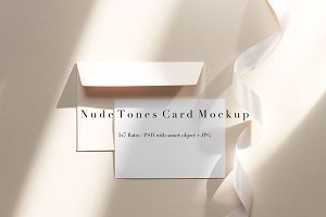 Nude Tones Card, Envelope & Band