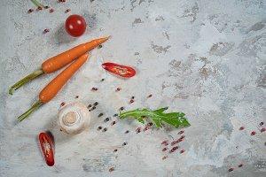 Food background.  Ingredients