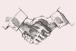 Shake hands, partnership