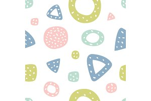Childish seamless pattern with