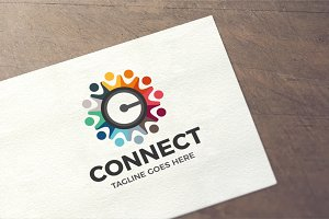 Letter C - Connect Logo