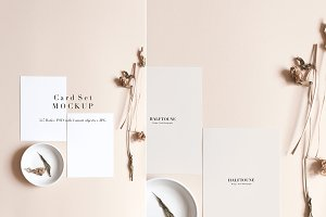 5x7 Card & Dried Botanical Mockup