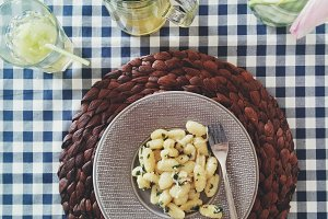 Italian gnocchi with butter and sage