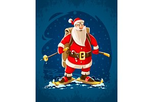 Christmas Santa Claus merry cartoon