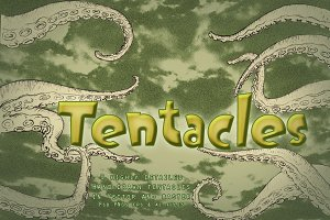 Set of nine hand-drawn tentacles