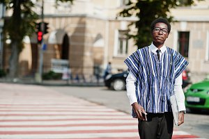 African man in traditional clothes a