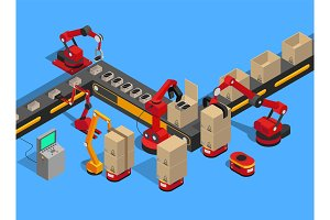 Abstract Production Line Isolated on