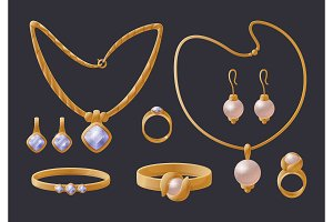Golden Jewelry Collection Expensive