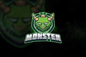 Green Monster - Mascot & Esport Logo