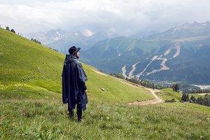 man with a beard shepherd standing