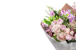 Chic bouquet of flowers isolated