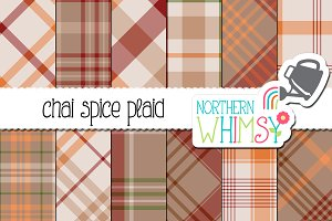 Fall Plaid Pattern - Chai Spice