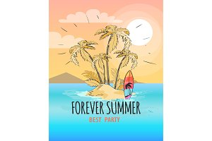Forever Summer Poster Depicting