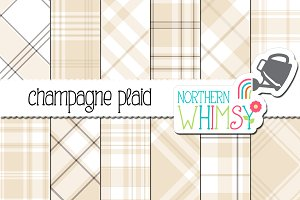 Neutral Beige Plaid Patterns