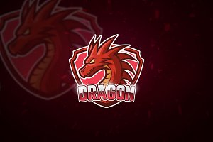 Red Dragon - Mascot & Esport Logo
