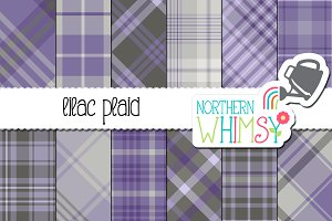 Purple and Gray Plaid Patterns