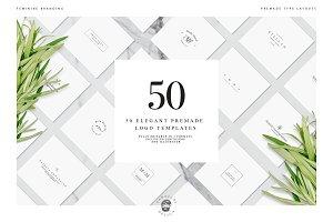 50 Elegant Premade Logo Templates