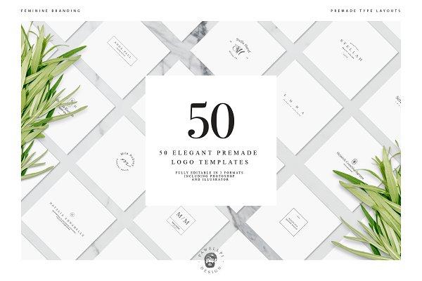 Logo Templates: pawellpi - 50 Elegant Premade Logo Templates