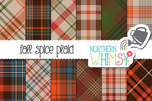 Fall Spice Plaid Patterns