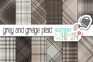 Gray Plaid Patterns