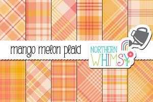 Pink and Orange Plaid Patterns