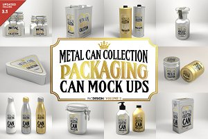 Vol3. Metal Can Mockup Collection