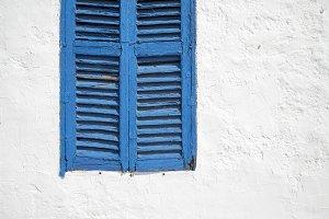 Ibiza blue window