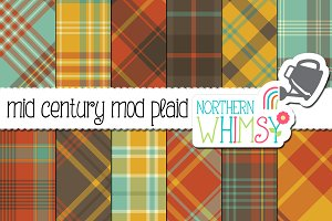 Mid Century Modern Plaid Patterns