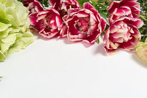 Floral pattern made of pink roses