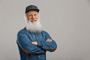 old man with a long beard