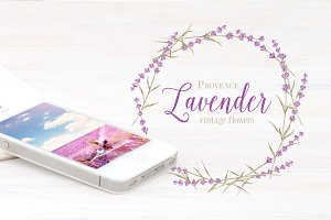 Label with lavender flowers.