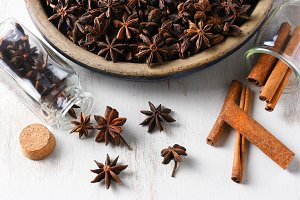 Star Anise and Cinnamon