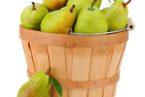 Bartlett Pears in Basket