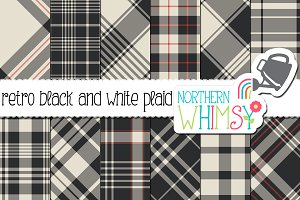 Retro Black and White Plaid