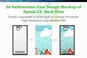 Sony Xperia C3 2d Case Mock-up