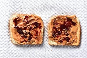 Peanut Butter Jelly on Toast