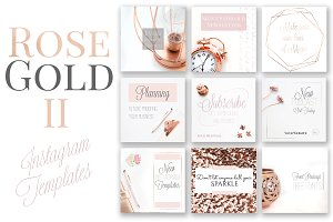Rose Gold Instagram Templates-Set 2