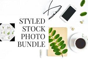 green flatlay stock photo bundle
