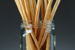Bread Sticks in Jar