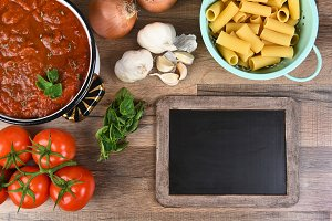 Italian Cooking With Chalk Board