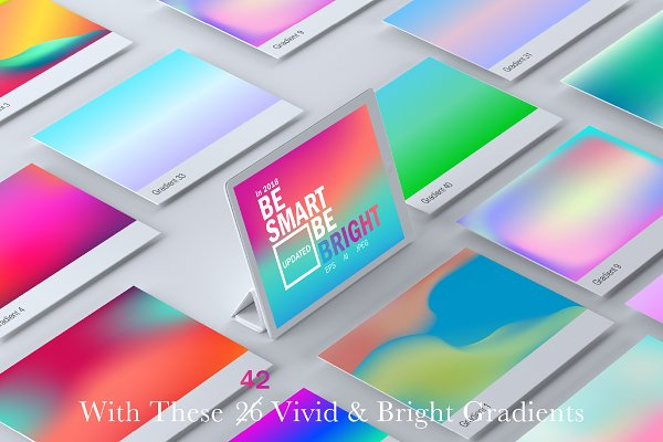 Photoshop Gradients: Prime Dsgn - Vivid & Bright Gradients - Updated