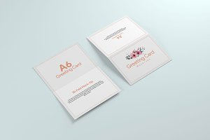 A6 Greeting Card X2 Mockup