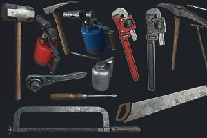 Old Work Tools Collection PBR