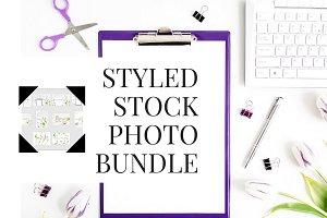 female desk styled stock photos