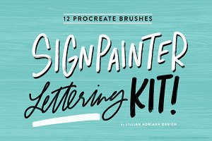 Signpainter Lettering Kit