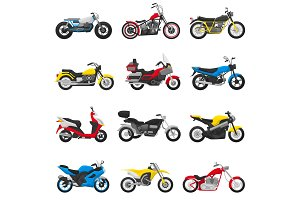 Motorcycle vector motorbike and