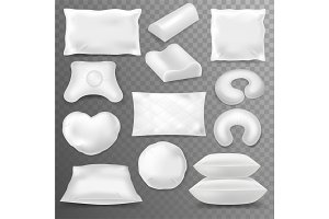 Pillow vector soft pillow-block with