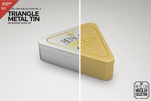 Triangle Metal Tin Mockup