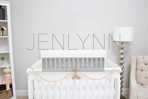 Neutral Nursery Wall Mockup